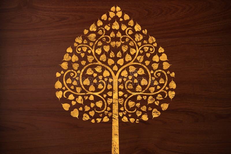 rzeźbi złota wzoru tekstury drzewa drewno obraz royalty free