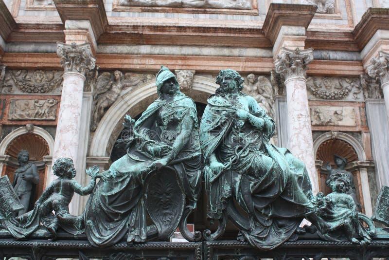 Rzeźbiarzi w Wenecja zdjęcia stock