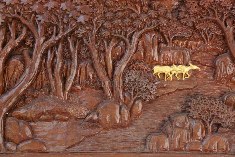 Rzeźbiony drewno obrazy stock