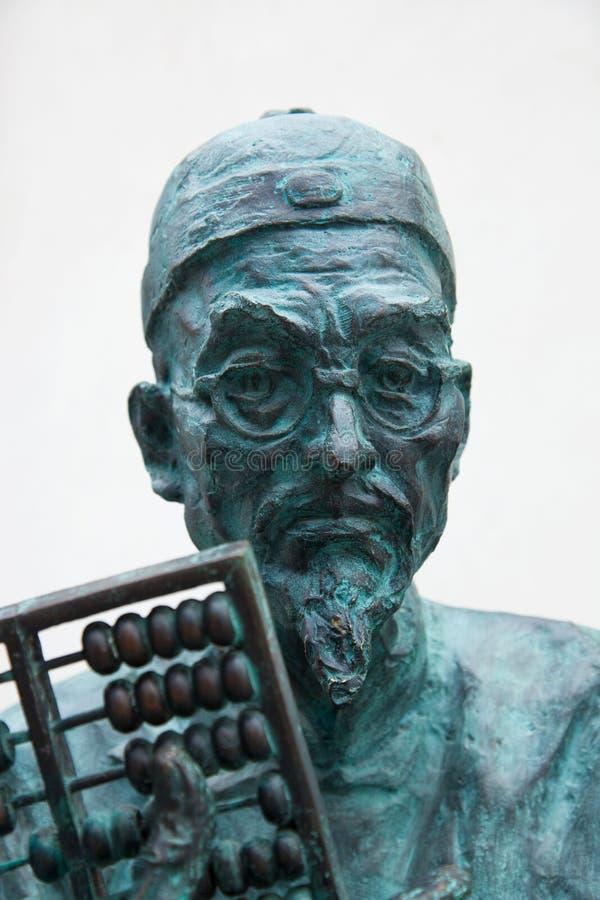 rzeźbiony stary mężczyzna portret obraz stock