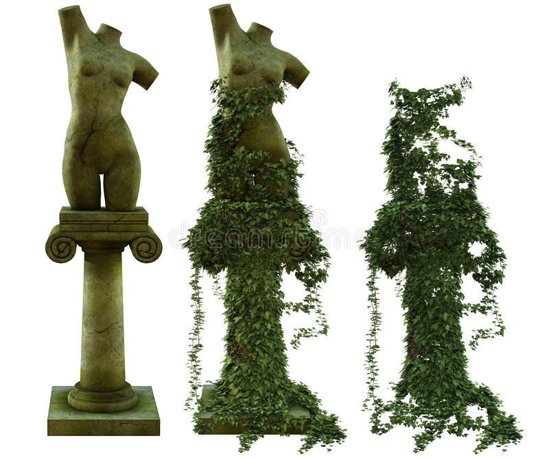 Rzeźby żeńska półpostać royalty ilustracja