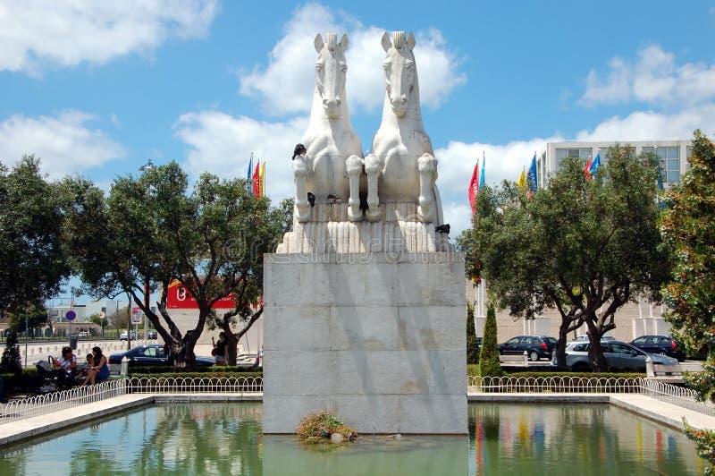 Rzeźby konie zdjęcia royalty free