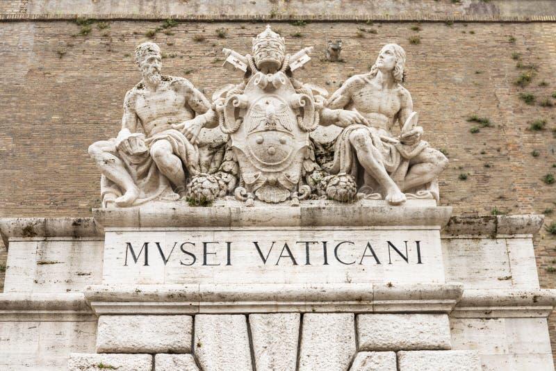 Rzeźby nad wejście Watykańscy muzea obraz royalty free