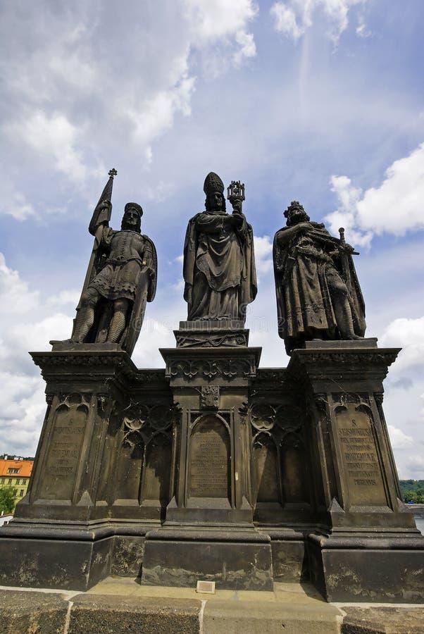 Rzeźby St Norbert Wenceslas i Sigismund fotografia royalty free