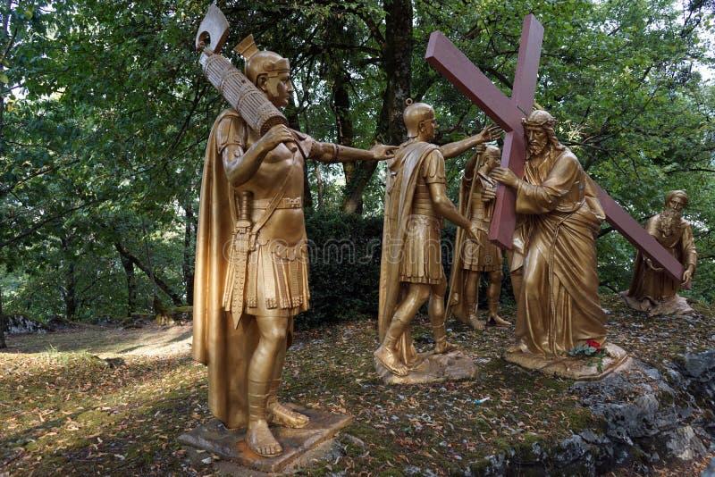 Rzeźby w Lurdes obrazy royalty free