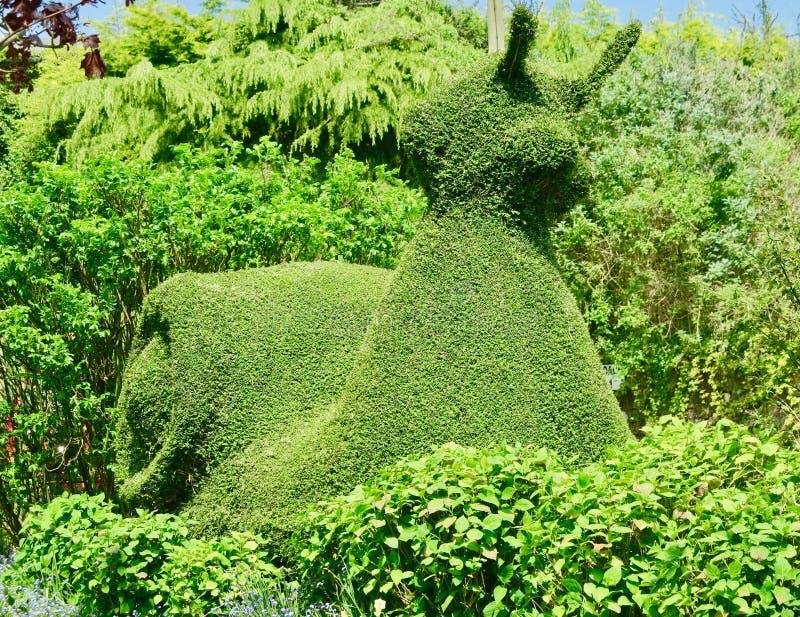 Rzeźby w ogródzie obrazy royalty free