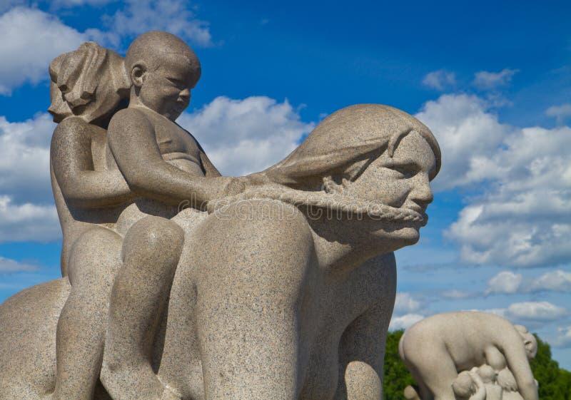 Rzeźby w Vigeland parku Oslo Norwegia obraz stock
