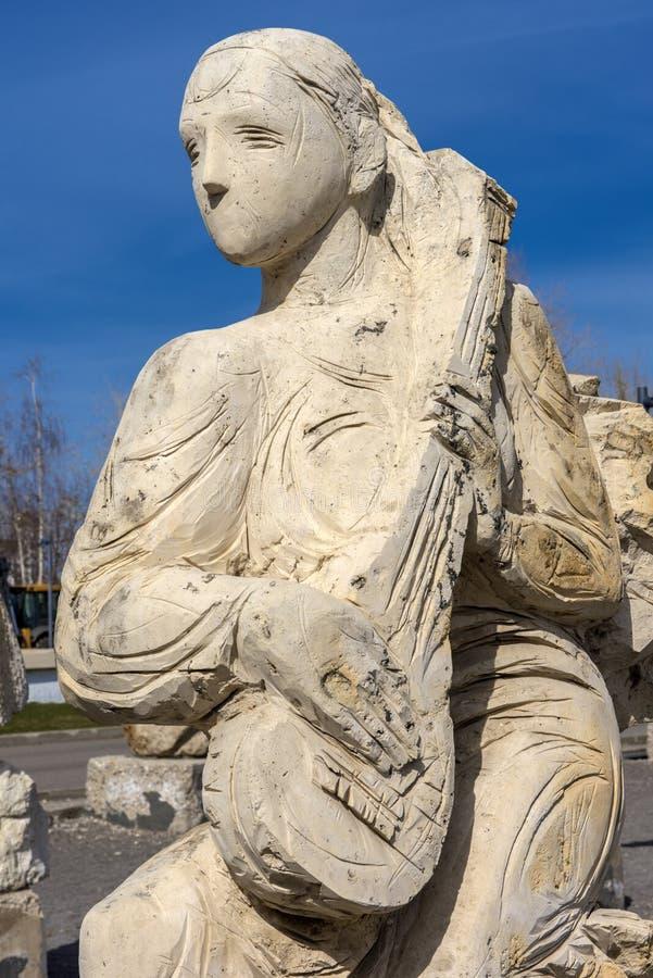 Rze?bi Parkowego Museon, Wiele biel rze?by pod otwartym niebem obrazy royalty free