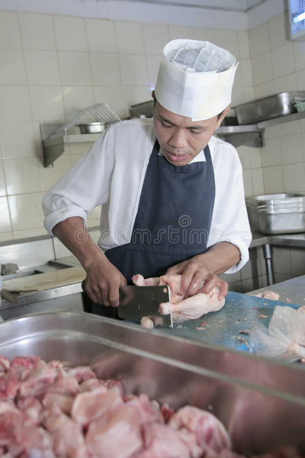 rzeźnik szef kuchni zdjęcie stock obraz z�ożonej z
