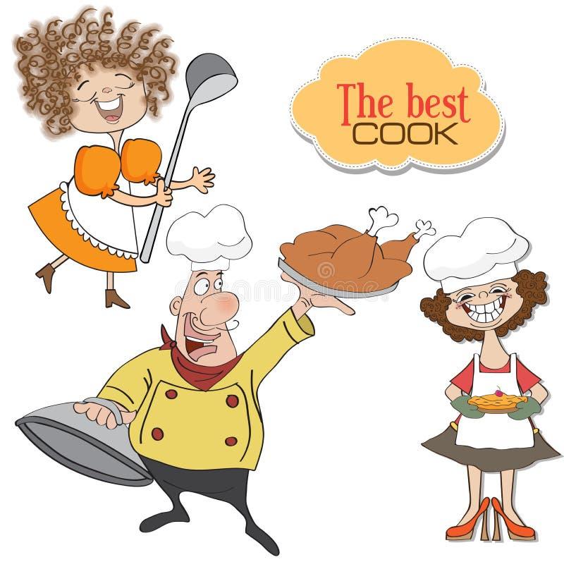 Rzecz szefowie kuchni inkasowi ilustracja wektor
