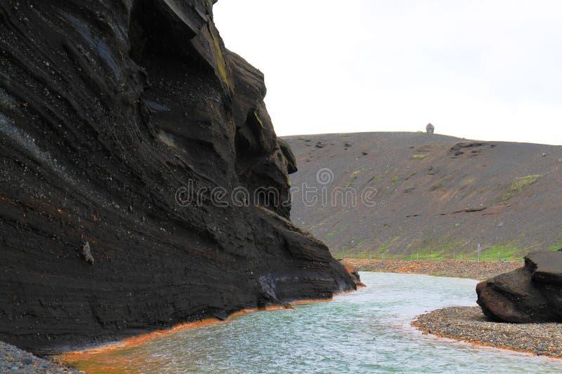 Rzeczna dolina w Kerlingarfjoll zdjęcia stock