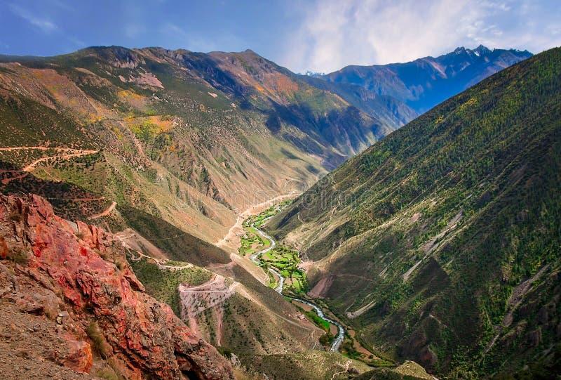 Rzeczna dolina w Yunnan obrazy stock