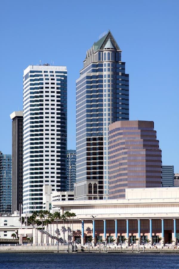 rzeczna miasto linia horyzontu Tampa obrazy royalty free
