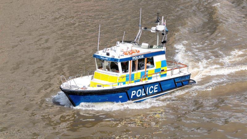 Rzeczna Milicyjna łódź Morska siły policyjne obrazy stock