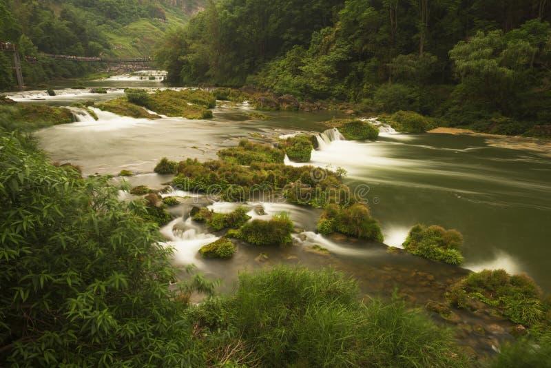 Rzeczna siklawa krajobrazu grupa zdjęcie stock