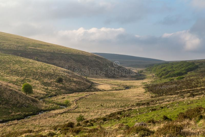 Rzeczna strzałki dolina w Dartmoor obrazy stock
