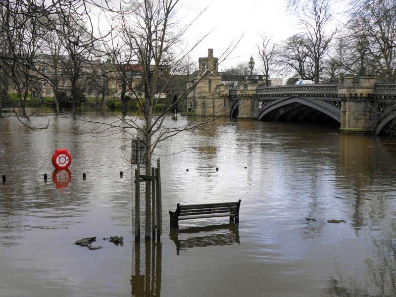 Rzeczne Ouse powodzie obrazy royalty free