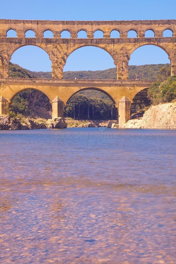Rzeczny Gard du Gard i Pont, Nimes, Francja obrazy royalty free