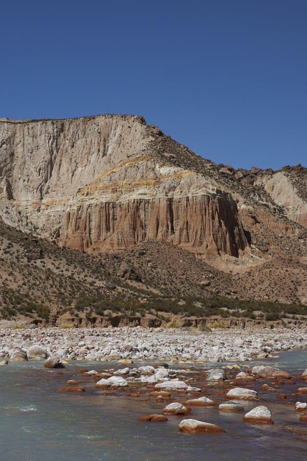 Rzeczny Lluta na Altiplano Chile zdjęcia royalty free