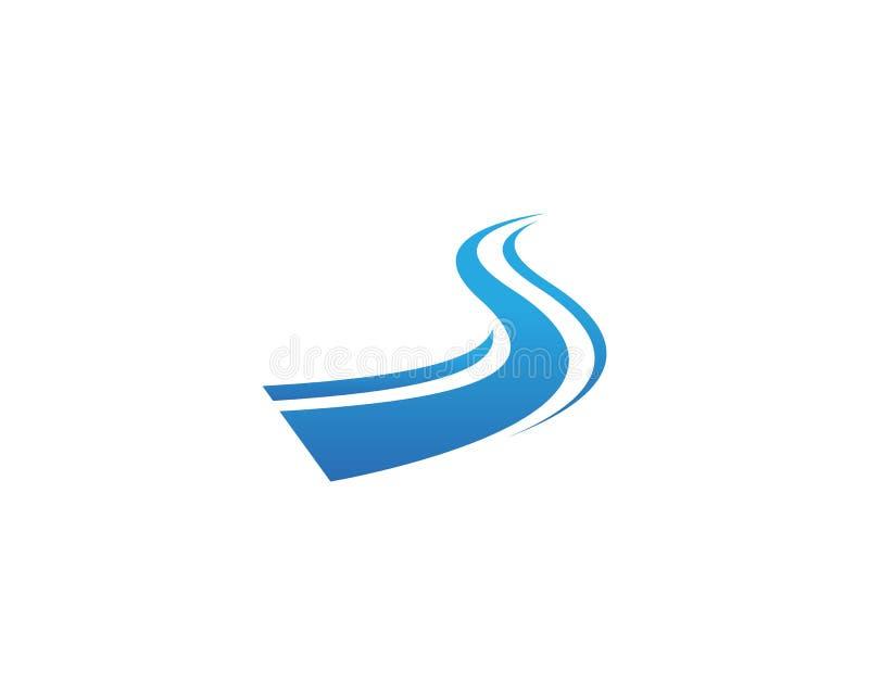 Rzeczny logo S pisze list wektorowe ikony ilustracja wektor