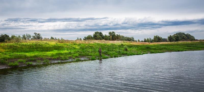 Rzeczny Meret Mereda, dopływ Ob Zachodni Syberia zdjęcia royalty free