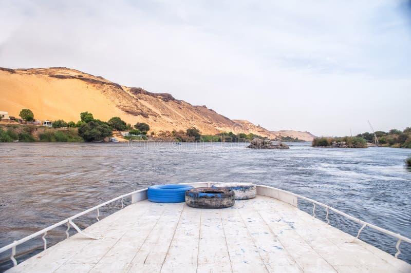 Rzeczny Nil w Egipt zdjęcie royalty free