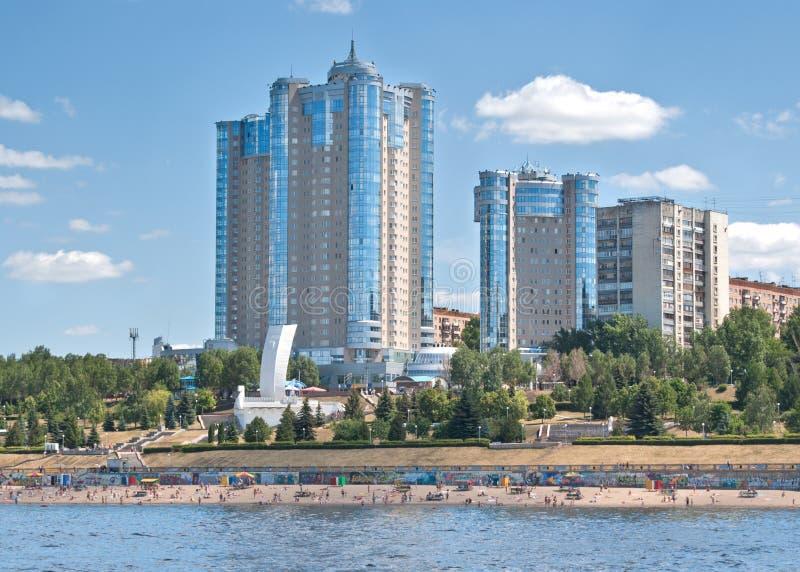 rzeczny samara Volga zdjęcia stock