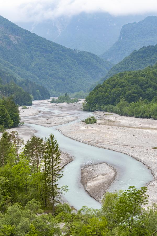 Rzeczny Tagliamento, alt Adige, Włochy obraz royalty free