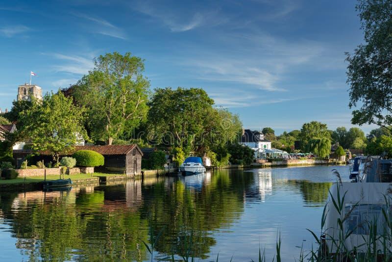 Rzeczny Waveney, Beccles, UK, Czerwiec 2019 obrazy stock