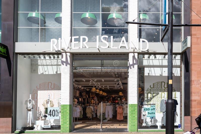 Rzeczny wyspa sklep Swindon zdjęcie stock