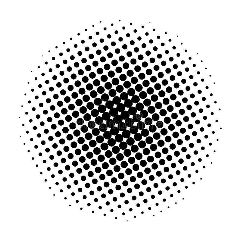 Rzeczy halftone okrąg na białym tle, projekta świeża ilustracyjna naturalna wektoru woda twój ilustracji