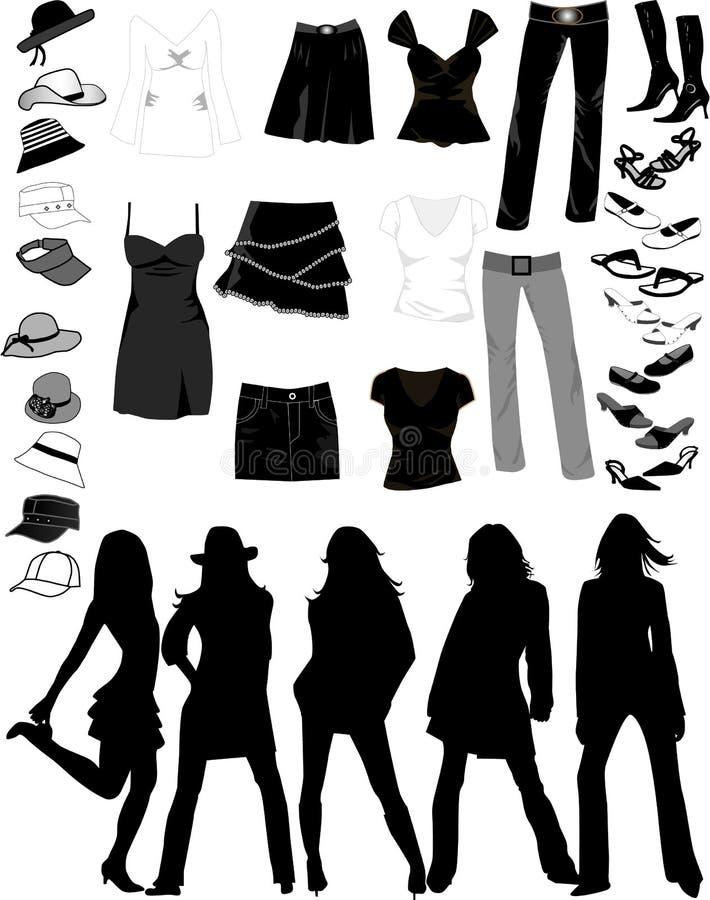 rzeczy kobiety royalty ilustracja