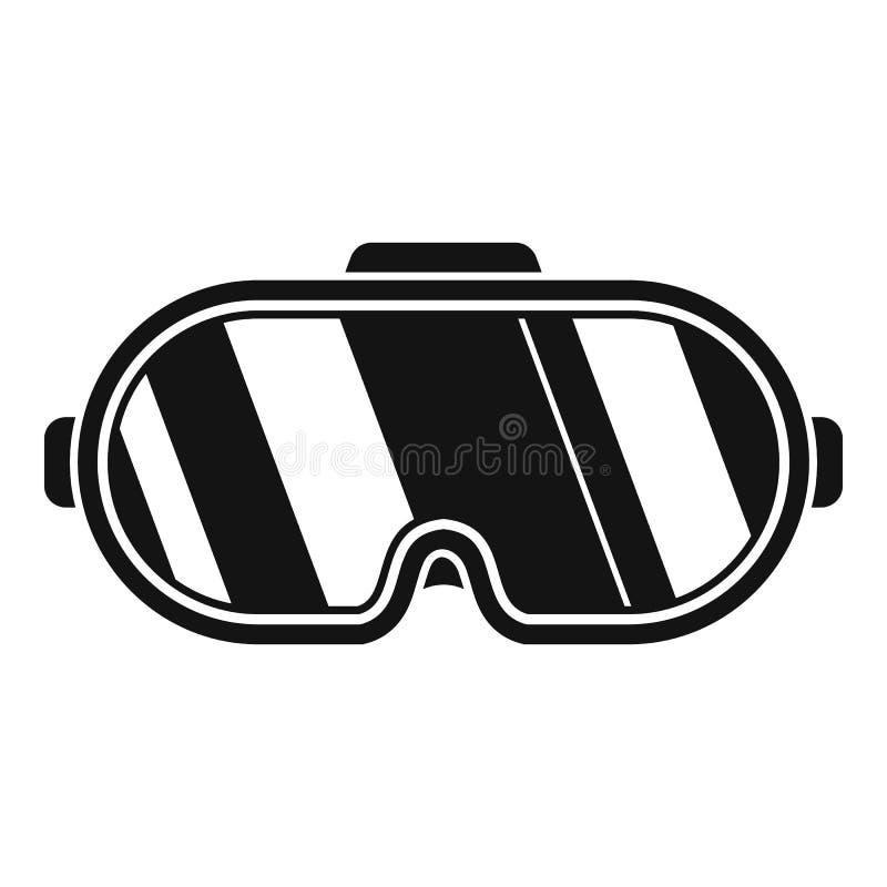 Rzeczywistość wirtualna gogle ikona, prosty styl ilustracji