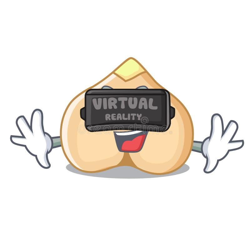 Rzeczywistość wirtualna chickpeas maskotki kreskówki styl ilustracji