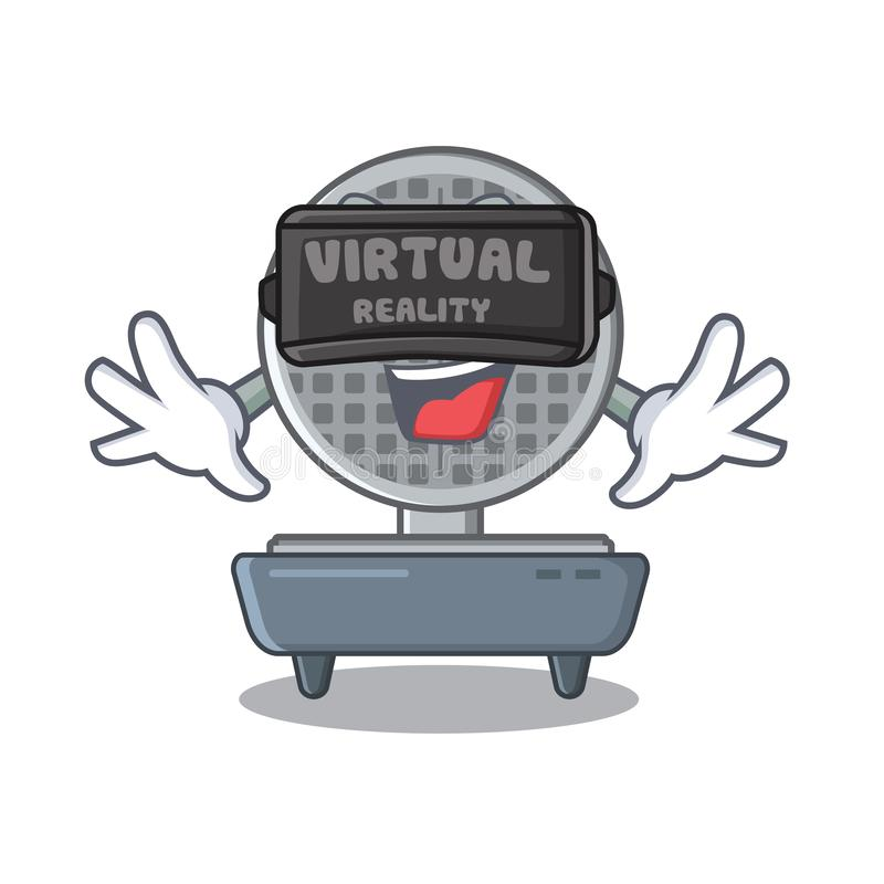 Rzeczywistość wirtualna gofra żelazo w kreskówka kuchennym gabinecie royalty ilustracja