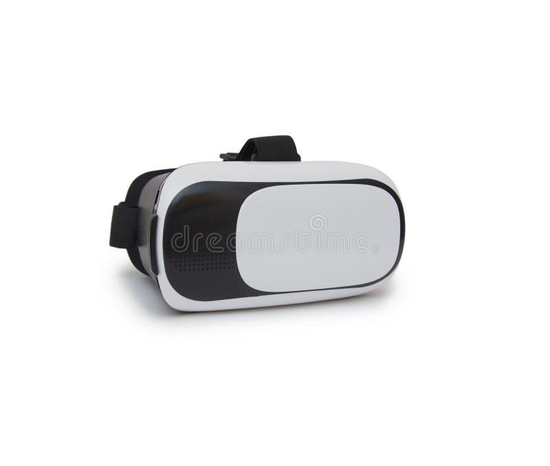 Rzeczywistość wirtualna hełm odizolowywający na białym tle zdjęcia stock