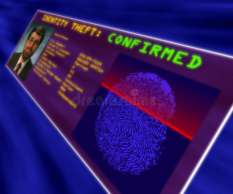 Rzeczywistość wirtualna pokaz potwierdza tożsamości kradzież obrazy stock