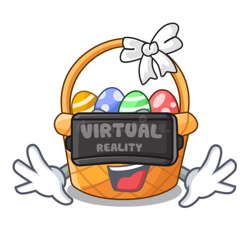 Rzeczywistości wirtualnej Easter kosza miniatura kształt maskotka ilustracja wektor
