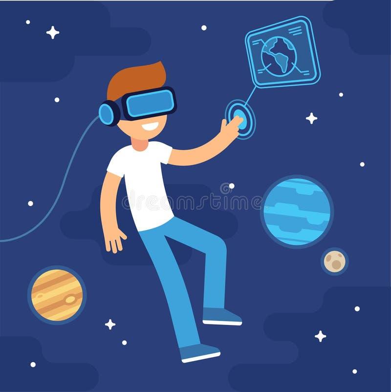 Rzeczywistości wirtualnej przestrzeń royalty ilustracja