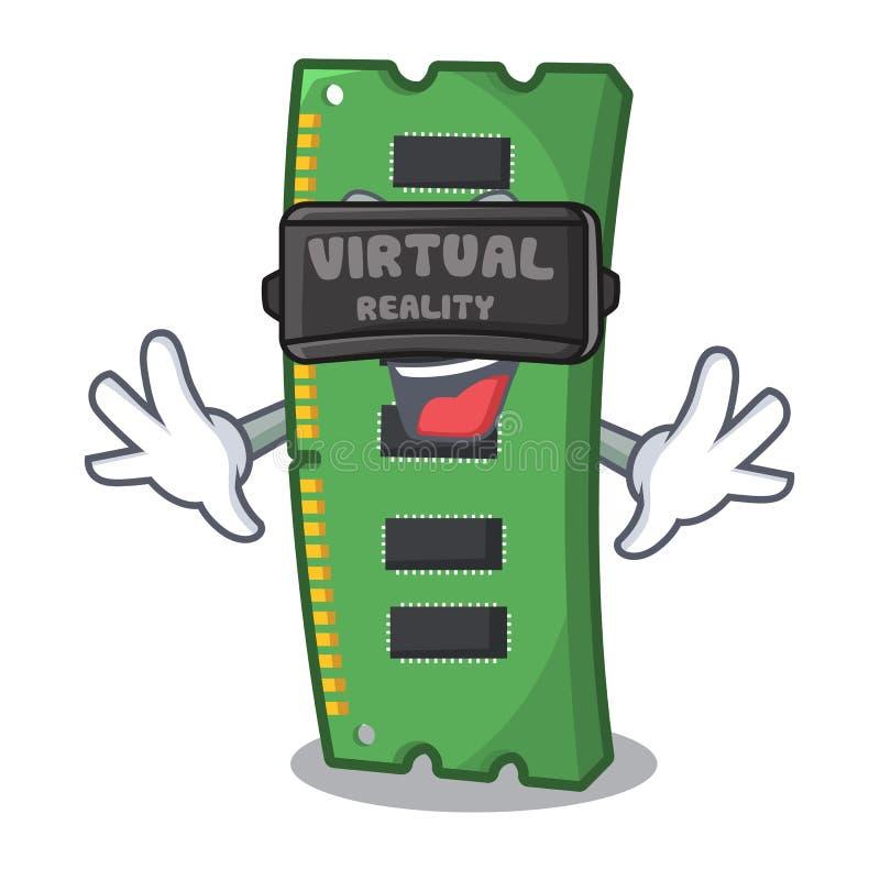 Rzeczywistości wirtualnej RAM karta pamięci w peceta charakterze royalty ilustracja