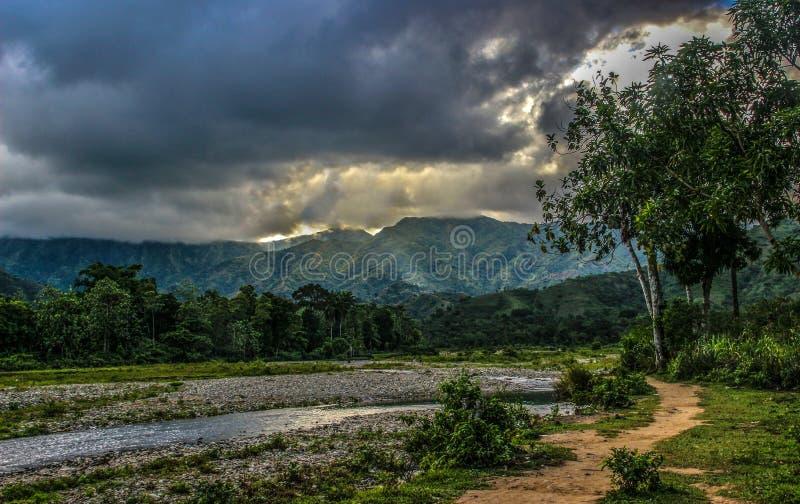 Rzeka życie w północnym Haiti zdjęcia royalty free