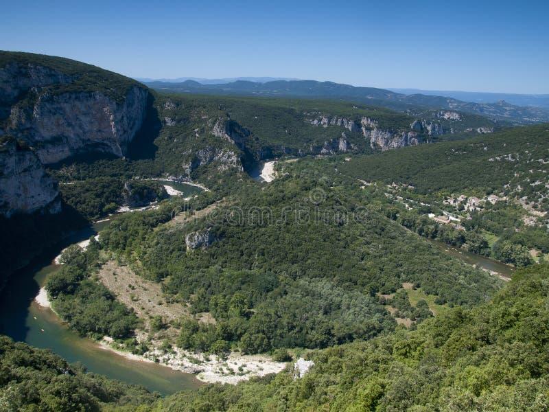 Rzeka Ardeche wąwóz w Francja fotografia royalty free