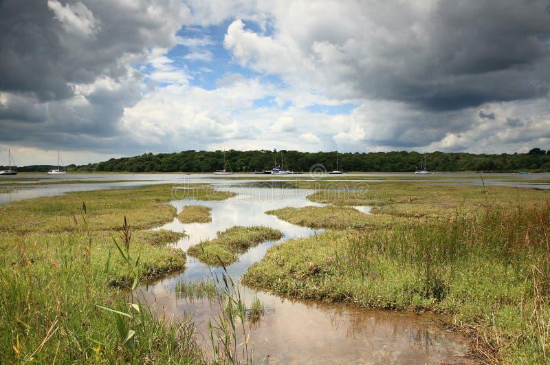 rzeka beaulieu obraz stock