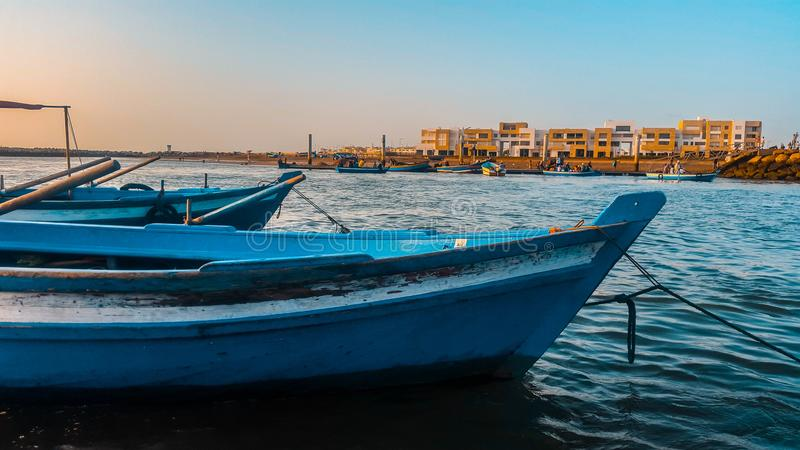 Rzeka bouregreg Rabat obraz royalty free