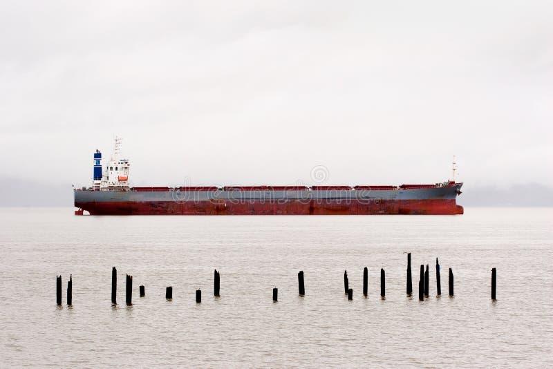 rzeka Columbia ładunku statku obraz royalty free