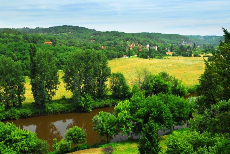 rzeka dordogne France obraz stock