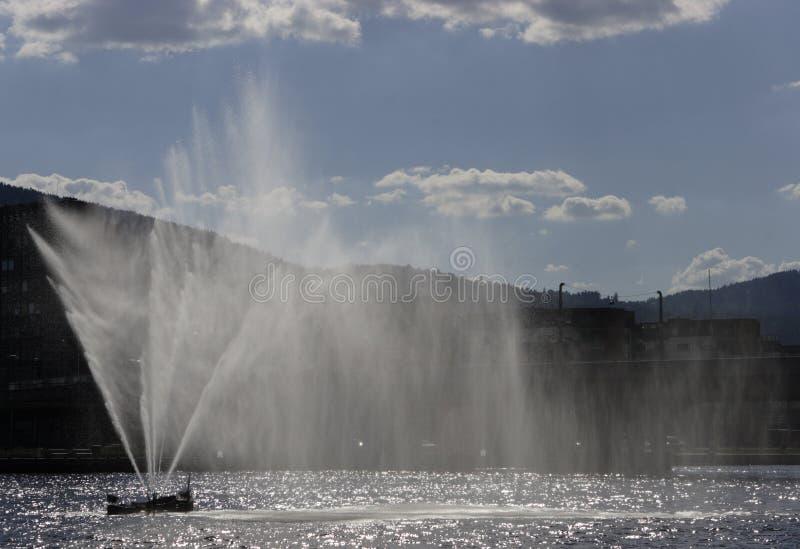 rzeka drammen fontann zdjęcia stock