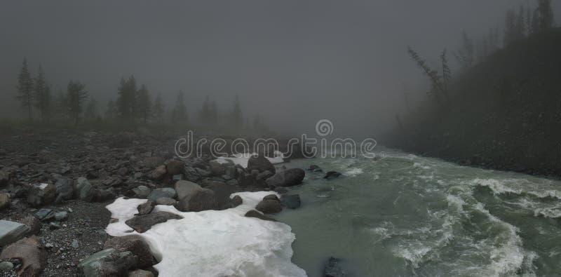 Rzeka górska obraz royalty free
