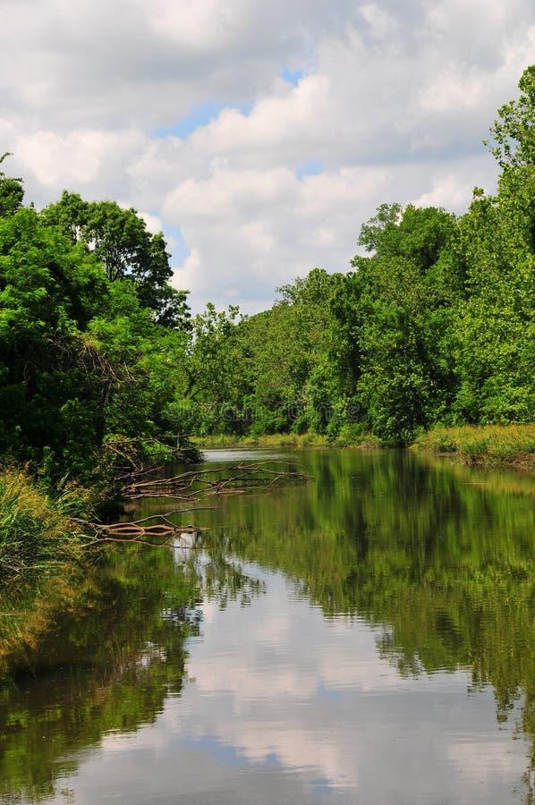 Rzeka i drzewa przy Horton Leniejemy zdjęcia royalty free