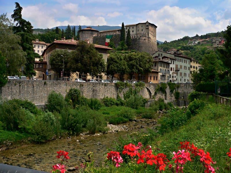 Rzeka i kasztel Teno fotografia stock